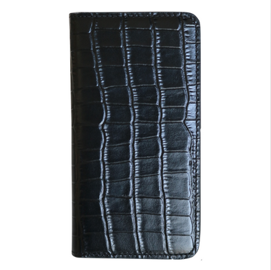 Black Croc iPhone 11 Pro Max Folio Wallet Case