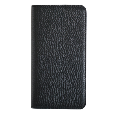 Black Pebbled Leather iPhone 11 Pro Folio Wallet Case