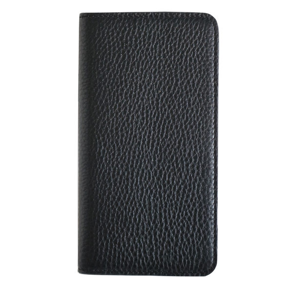 Black Pebbled Leather iPhone 11 Pro Max Folio Wallet Case
