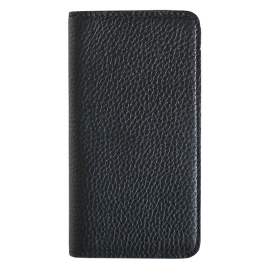 Black Pebbled Leather iPhone 11 Folio Wallet Case