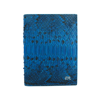 Blue Python Passport Holder