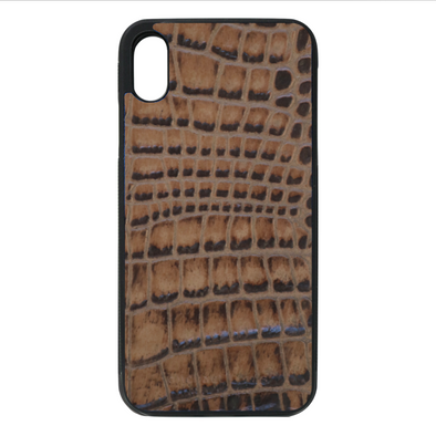 Brown Croc iPhone XR Case