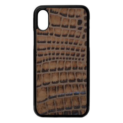 Brown Croc iPhone X/XS Case