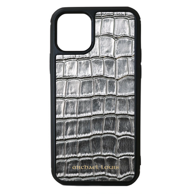 Silver Croc iPhone 11 Pro Case