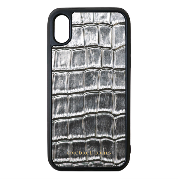 Silver Croc iPhone X/XS Case