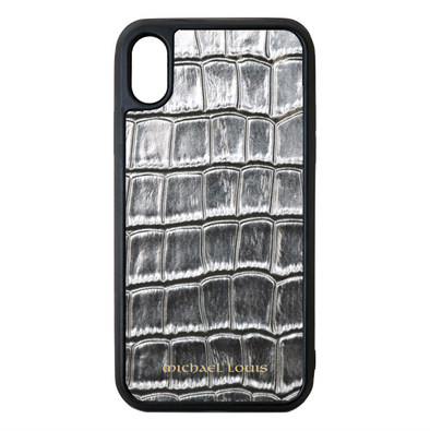 Silver Croc iPhone XS Max Case