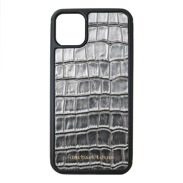Silver Croc iPhone 11 Pro Max Case