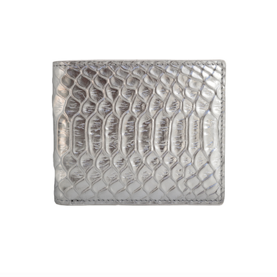 Silver Python Classic Bifold Wallet