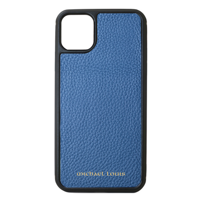 Slate Blue Pebbled Leather iPhone 11 Pro Max Case