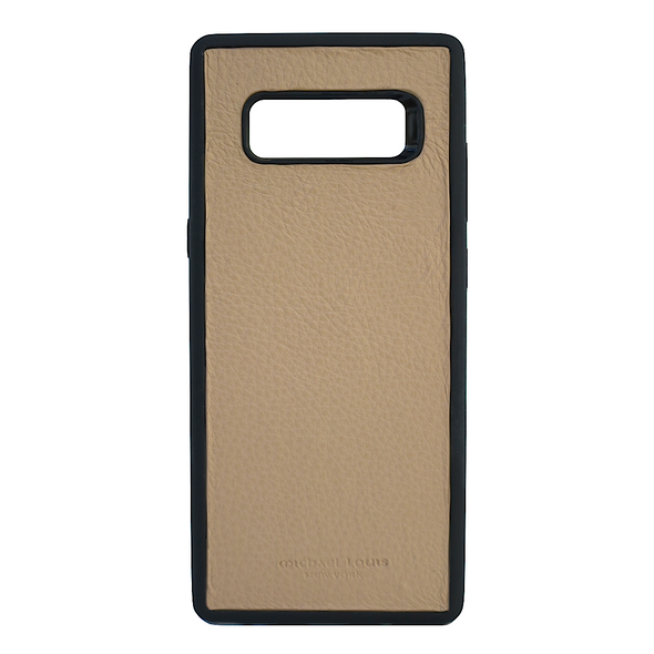 Tan Pebbled Leather Galaxy Note 8 Case