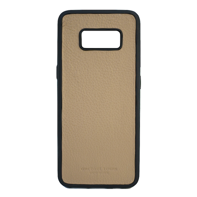 Tan Pebbled Calfskin Galaxy S8 Case