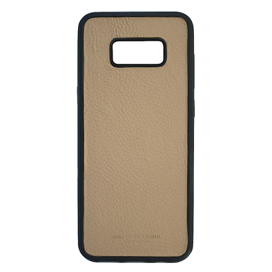 Tan Pebbled Leather Galaxy S8 Plus Case