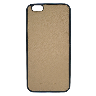 Tan Pebbled Leather iPhone 6/6S Plus Case