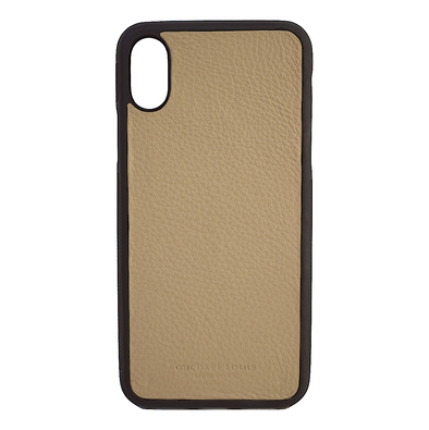 Tan Pebbled Calfskin iPhone XR Case