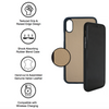 Tan Pebbled Calfskin iPhone X/XS Case