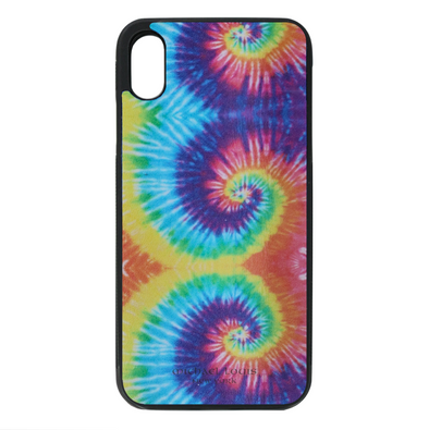 Tie Dye Leather iPhone XS Max Case