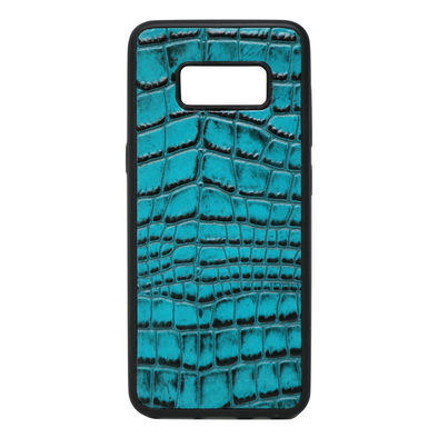 Turquoise Croc Galaxy S8 Case