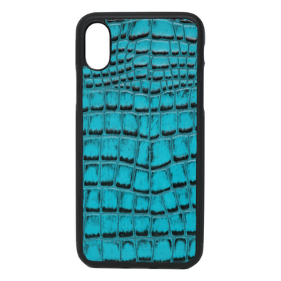 Turquoise Croc iPhone X Case