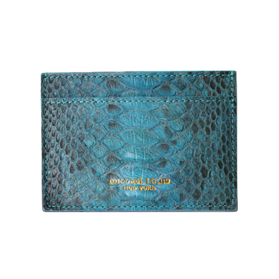 Turquoise Python Classic Card Holder