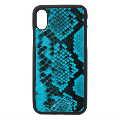 Turquoise Snakeskin iPhone X/XS Case