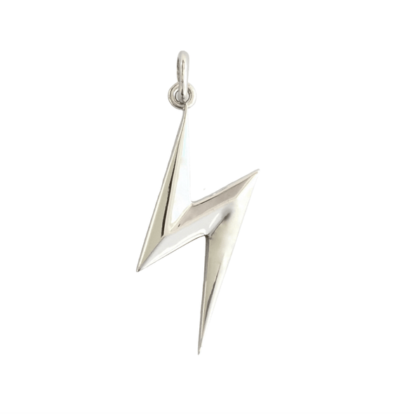 White Gold Bolt Pendant