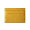 Yellow Pebbled Leather Classic Card Holder
