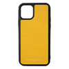 Yellow Pebbled Leather iPhone 11 Pro Max Case