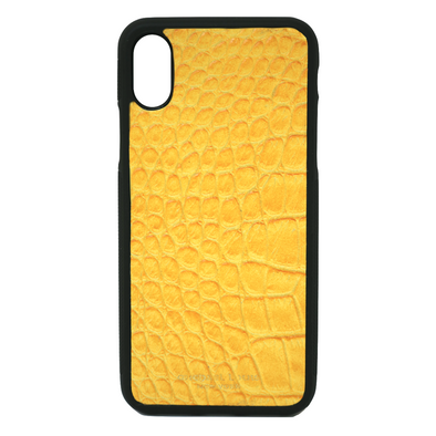 Yellow Croc iPhone XS Max Case