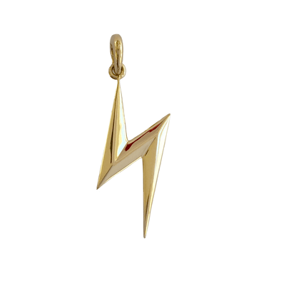 Yellow Gold Bolt Pendant