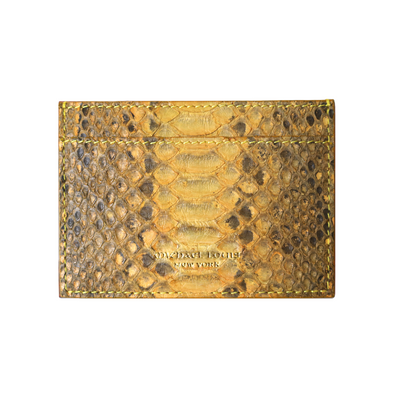 Yellow Python Classic Card Holder