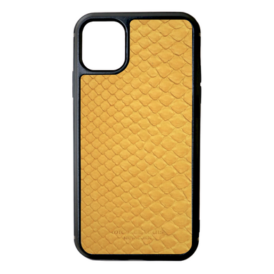 Yellow Python Snakeskin iPhone 11 Case