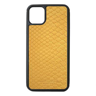 Yellow Python Snakeskin iPhone 11 Pro Max Case