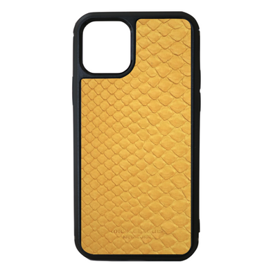 Yellow Python Snakeskin iPhone 11 Pro Case