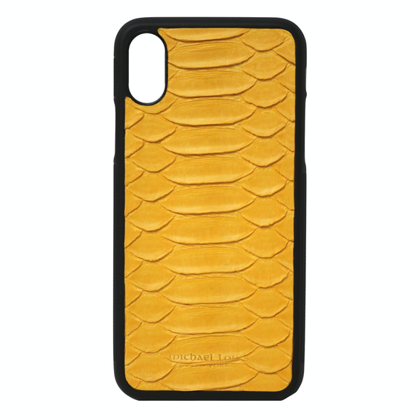 Yellow Python iPhone X Case