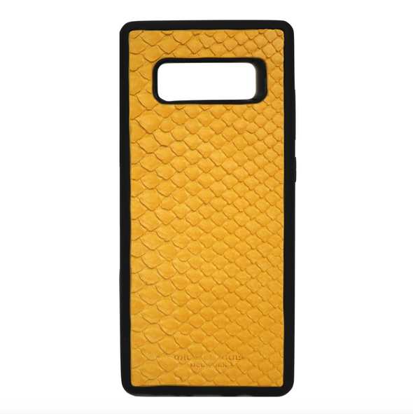 Yellow Snakeskin Galaxy Note 8 Case