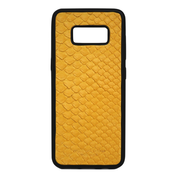 Yellow Snakeskin Galaxy S8 Case