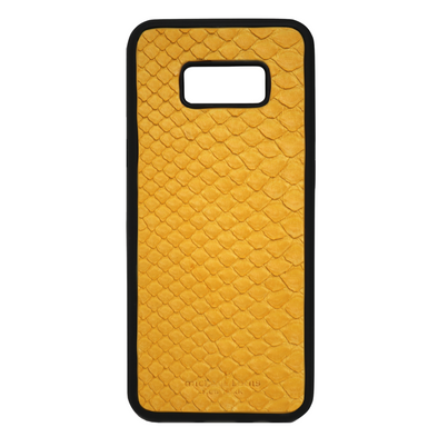 Yellow Snakeskin Galaxy S8 Plus Case