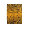 Yellow Python Passport Holder