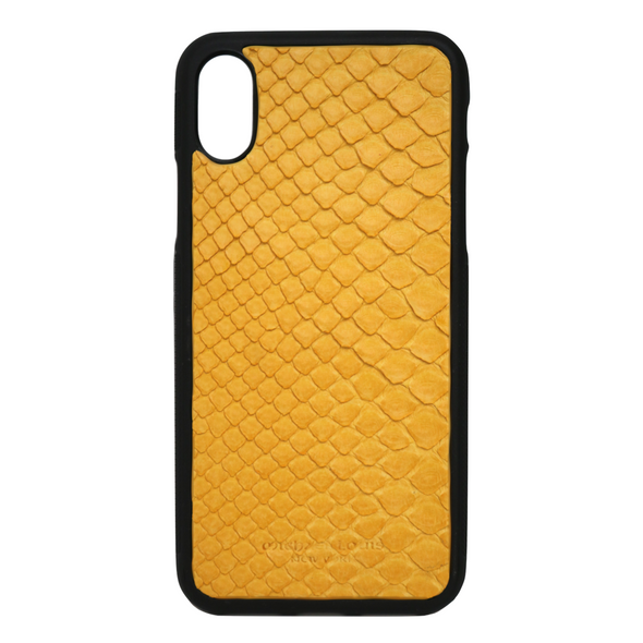 Yellow Snakeskin iPhone X Case