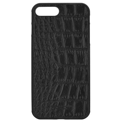 Black Croc Embossed iPhone 7 Plus Case