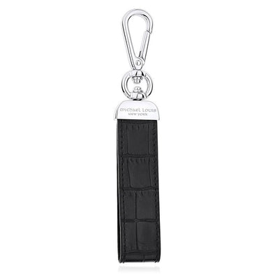Black Croc Swivel Key Holder