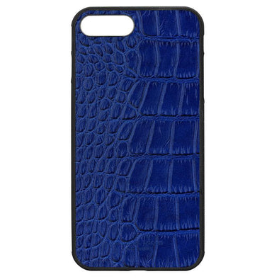 Blue Croc Embossed iPhone 7 Plus / 8 Plus Case