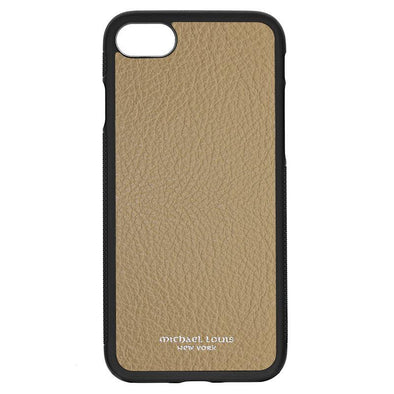 Tan Pebbled Calfskin iPhone 7 / 8 Case