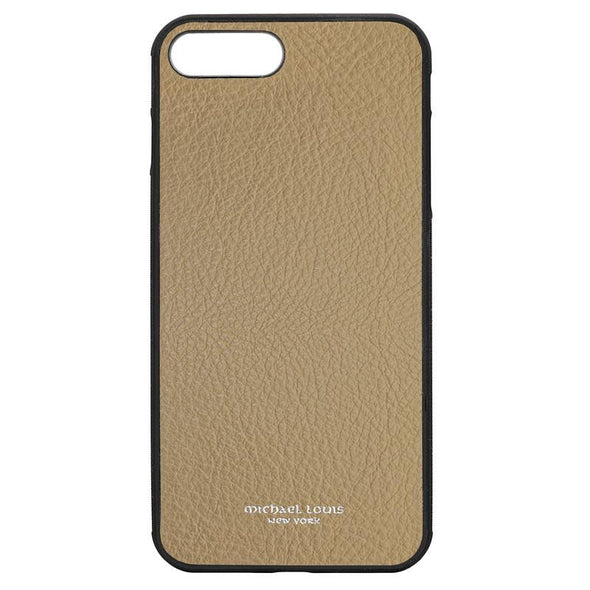Tan Pebbled Calfskin iPhone 7 Plus / 8 Plus Case