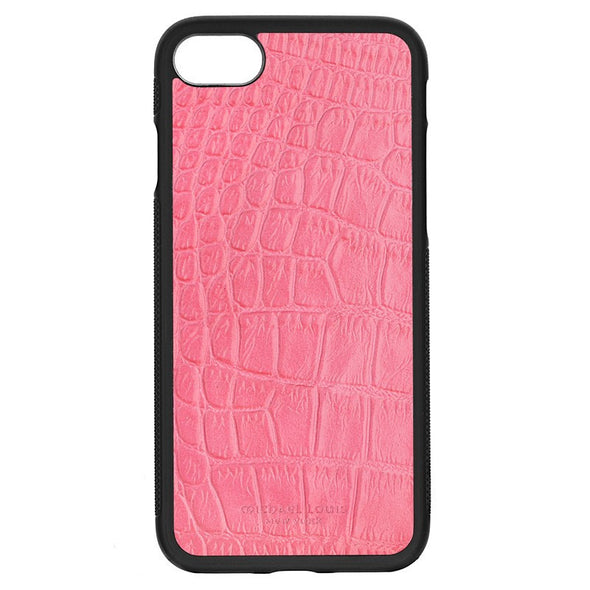 Pink Croc Embossed iPhone 7 Case