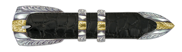 "1"" Engraved Lineage Set with 14k Gold Overlay (4-Piece)"