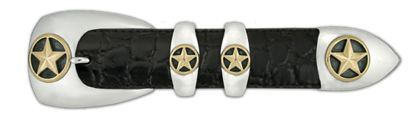 "1"" Stars Set with 14k Gold Overlay (4-Piece)"