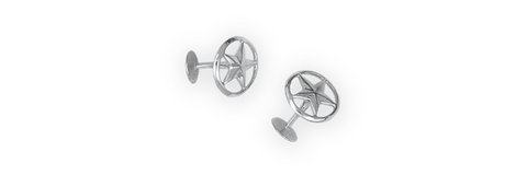 Open Back Sterling Silver Cufflinks (1 Pair)