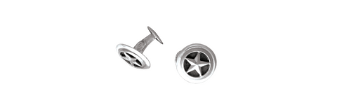 Closed Back Sterling Silver Cufflinks (1 Pair)