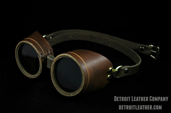 Brown Leather Goggles
